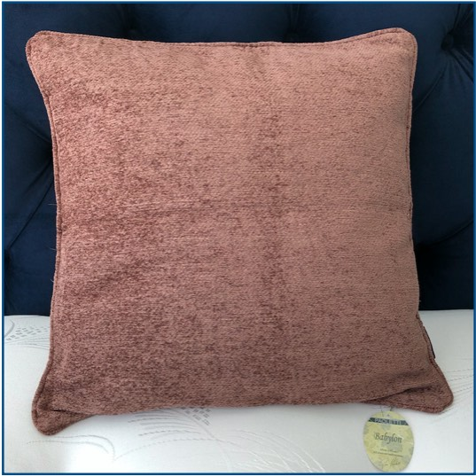 Plain chenille brown cushion cover