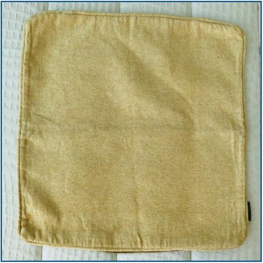 Gold / cream chenille cushion cover