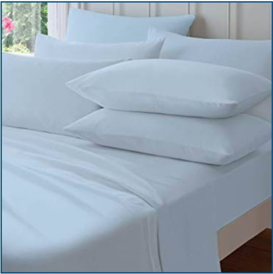CL Brushed cotton sheet blue