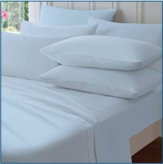 Catherine Lansfield blue brushed cotton sheet