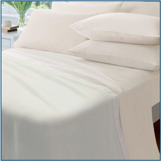 CL Brushed cotton sheet cream