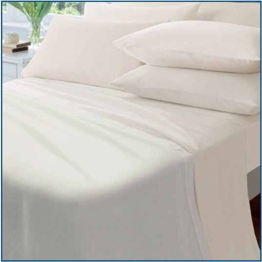 Catherine Lansfield cream brushed cotton sheet