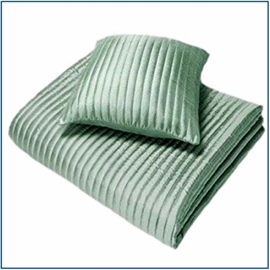 Ribbed duck egg blue cushion cover