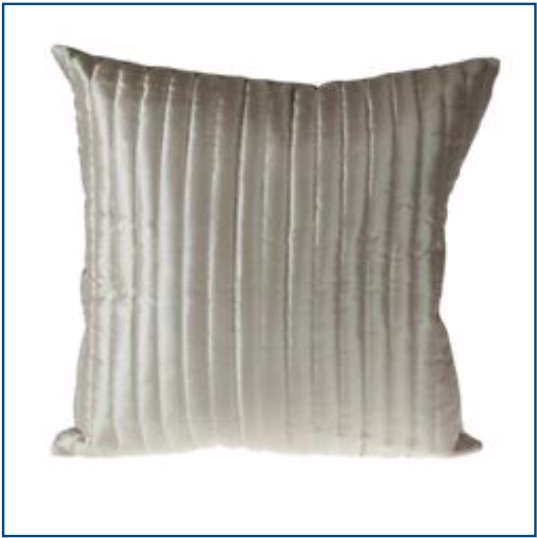 Silky plain oyster colour cushion cover with ribbed detailing