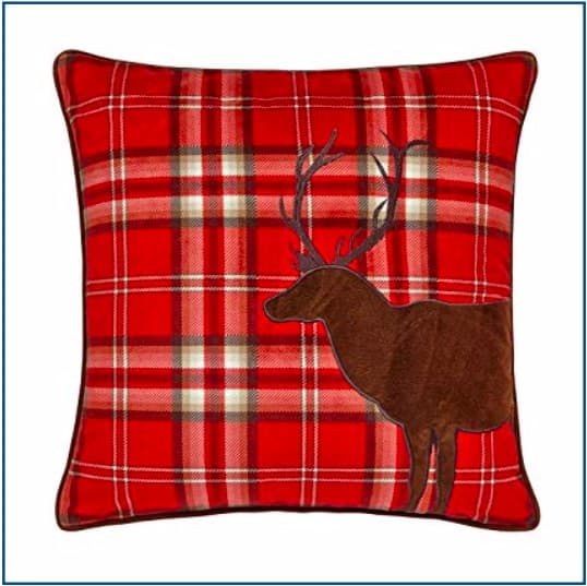 CL Tartan Stag Red Cushion Cover