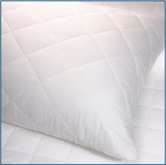 Soft microfibre quilted pillow protector with zip