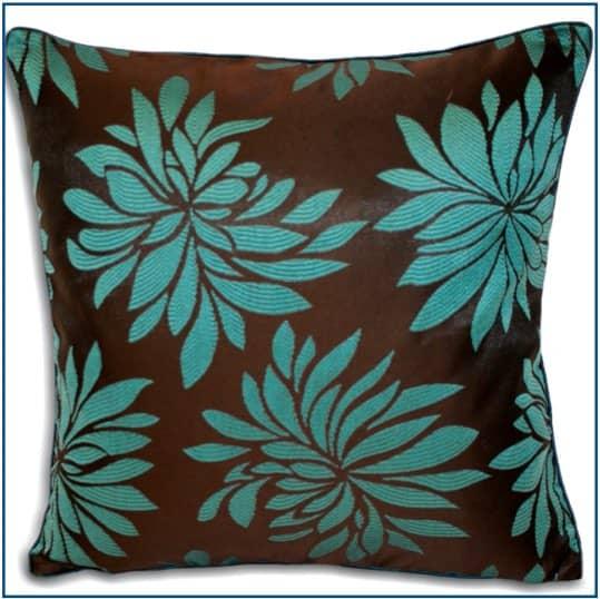 Dhalia Teal Cushion Cover