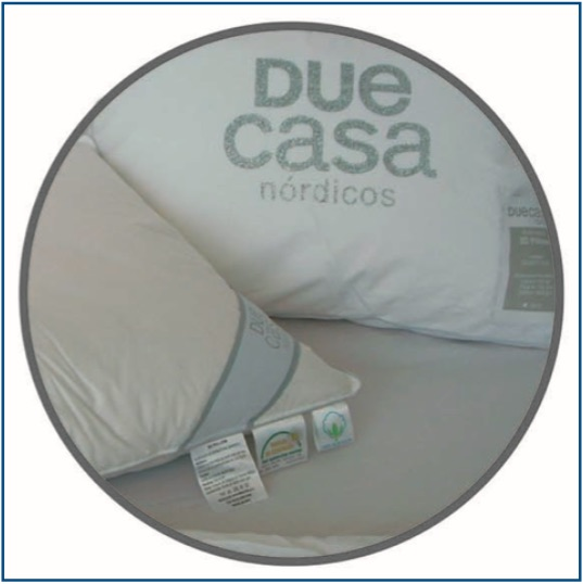Medium feel, 100% natural down and feather pillow