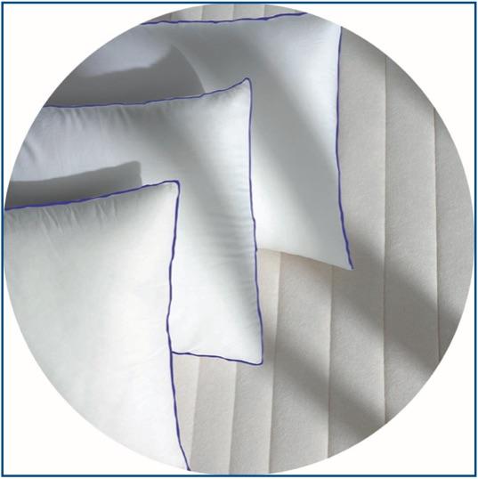 Medium feel, gel touch microfibre pillow