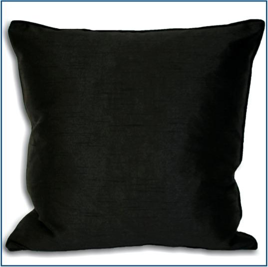 Plain black cushion cover