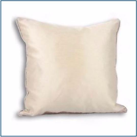 Plain cream cushion cover