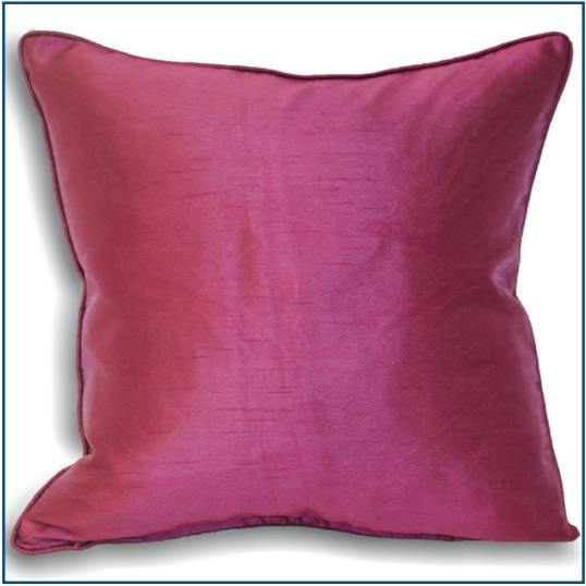 Plain purple cushion cover