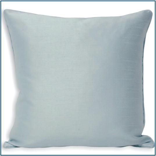 Plain duck egg blue cushion cover