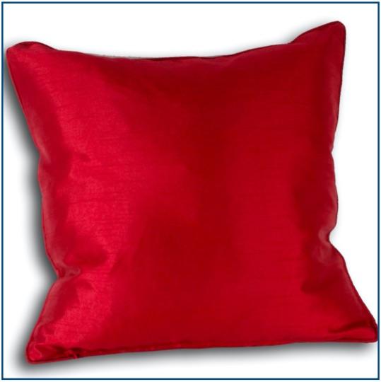 Plain red cushion cover