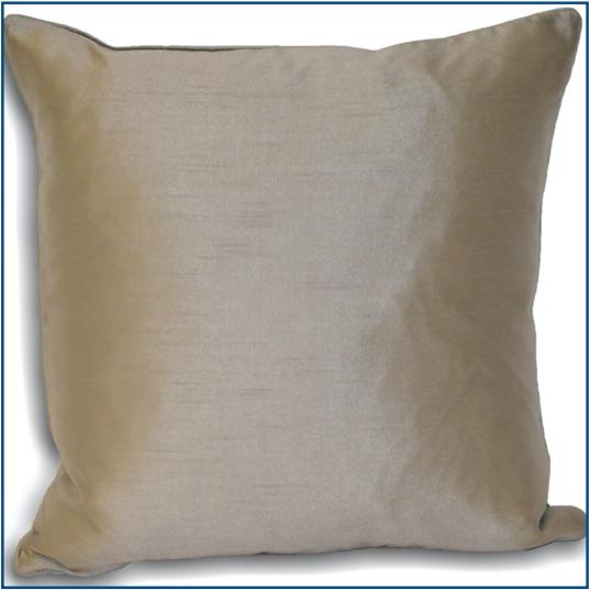 Plain silver cushion cover