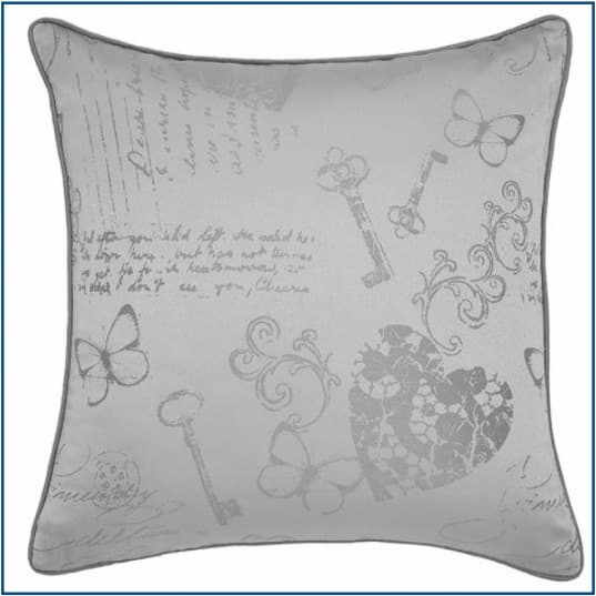 Les Sites de Paris Silver Cushion Cover