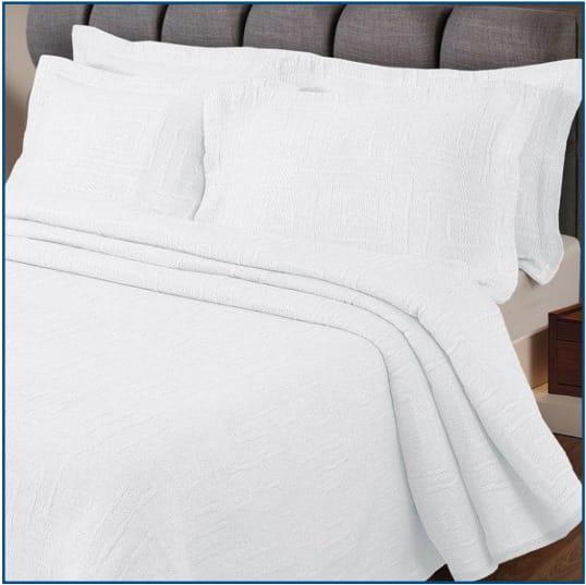 Lisbon Bedspread White