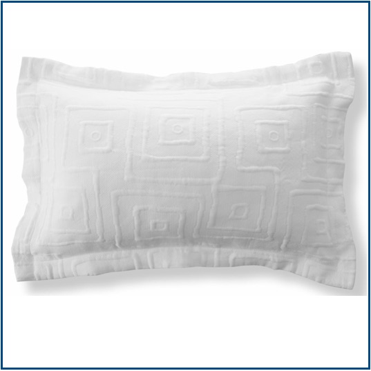 Contemporary design white, grey or champagne pillow sham