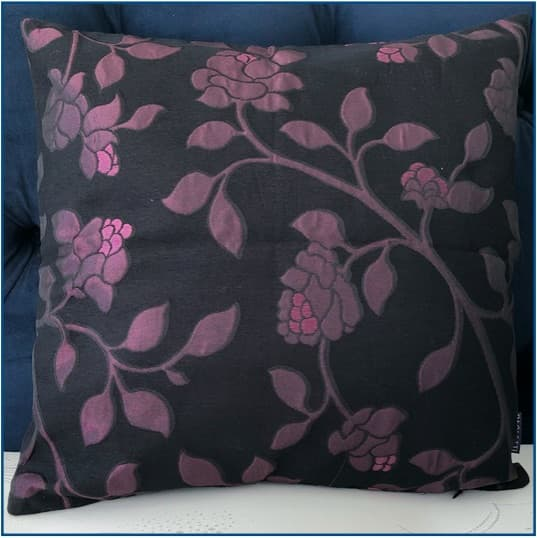 Nocturne Purple Cushion Cover