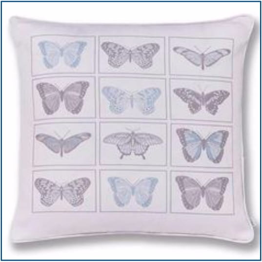 Pastiche Butterflies Blue Cushion Cover