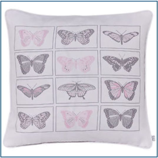 Pastiche Butterflies Pink Cushion Cover