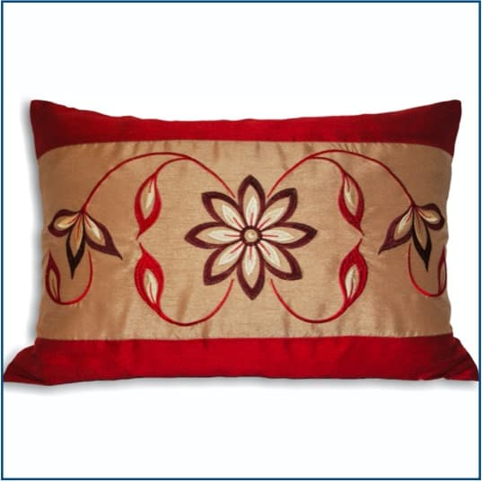 Petra Red Cushion Cover