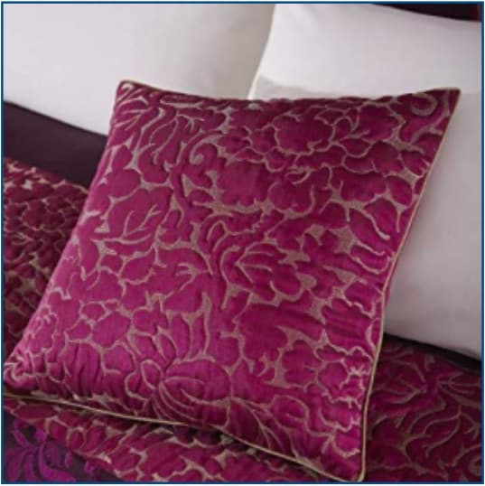Quilted Damask Cushion Cover