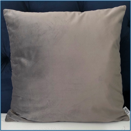 Velvet Grey Cushion Cover