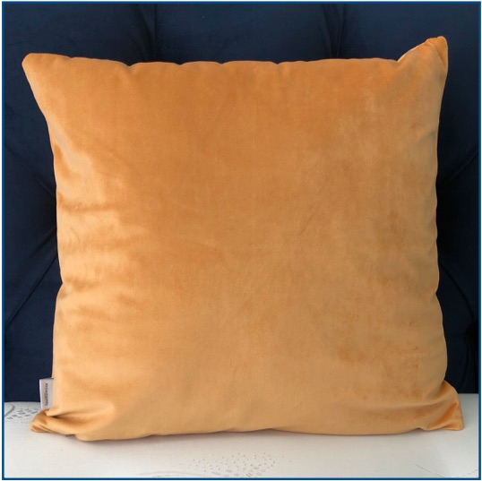 Velvet Mustard Cushion Cover