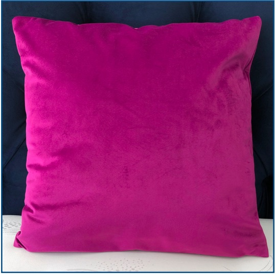 Purple velvet cushion cover