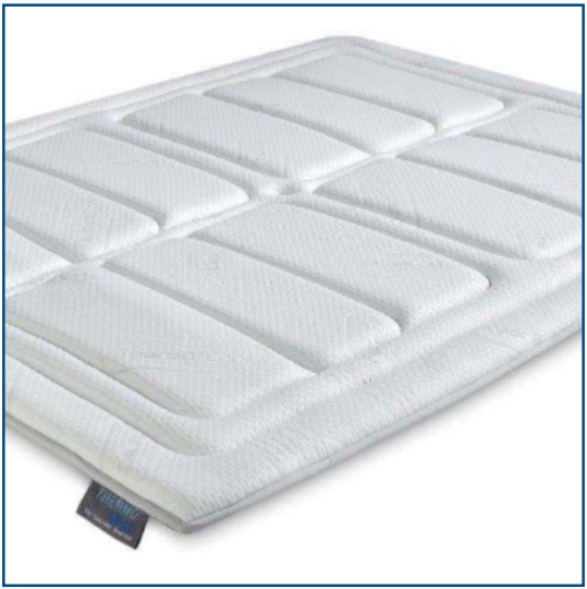 Breathable, cool memory foam mattress topper