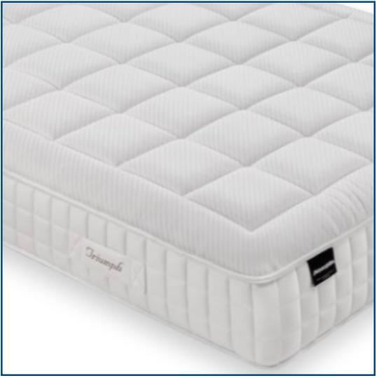Triumph pocket sprung mattress with memory foam and latex