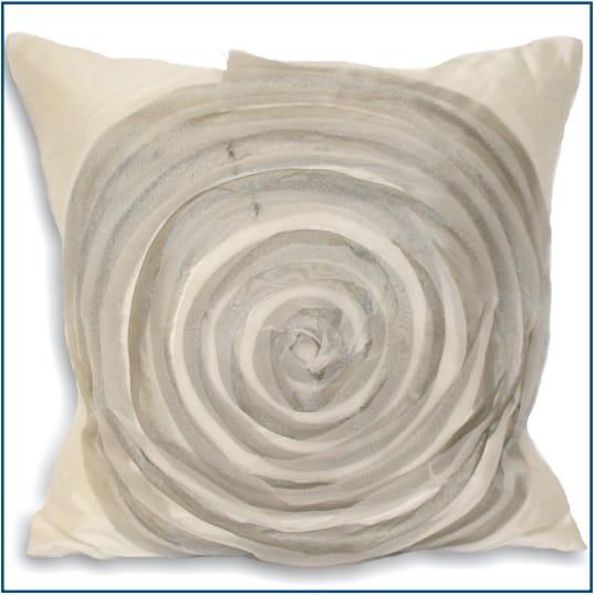 Vortex White Cushion Cover