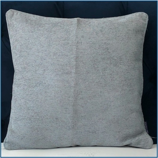 Plain duck egg blue chenille cushion cover