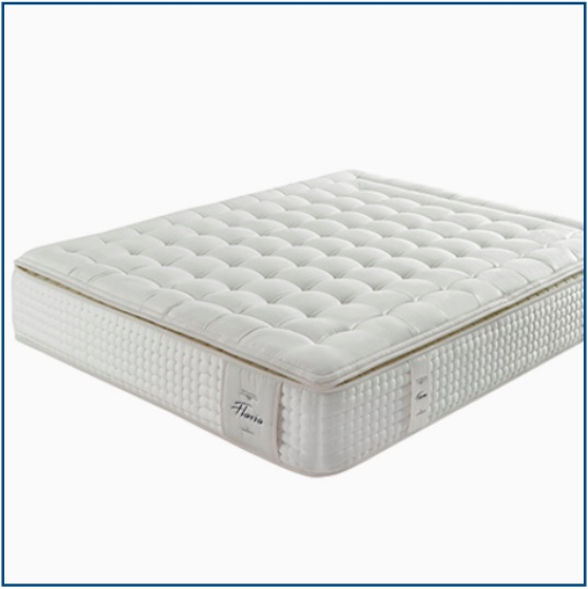 No turn, 1500 pocket spring mattress with natural fibres and memory foam