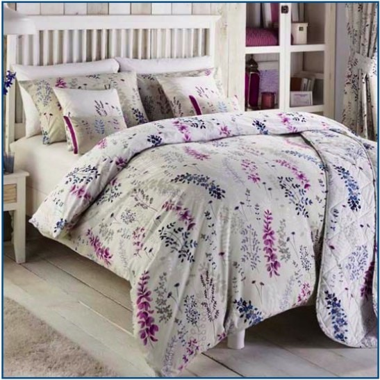 Dreams /& Drapes Haze Floral Duvet Quilt Cover Set OR Bedspread Blue OR Yellow
